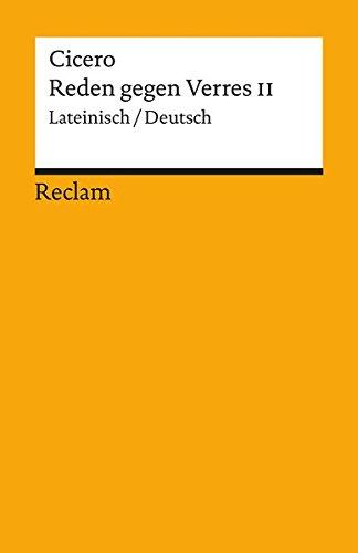 Reden gegen Verres II, Lateinisch - Deutsch