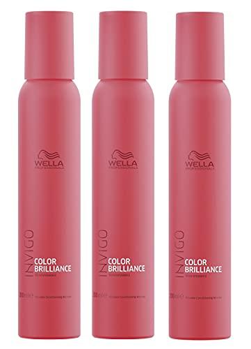 3er Color Brilliance Conditioning Mousse Invigo Wella Professionals mit Vitaminen angereichert je 200 ml = 400 ml