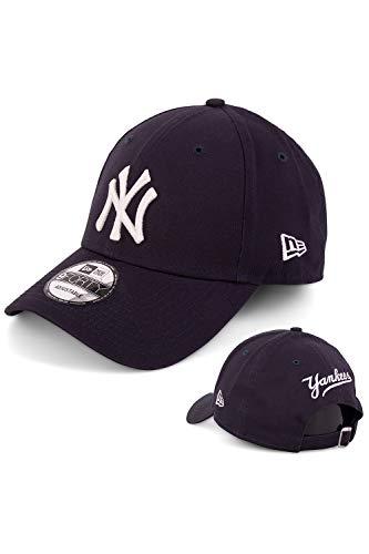 New Era Baseball Cap Basecap Herren Limited Edition mit Extra Team Stickerei auf Rückseite Kappe Schirmmütze Mütze 9 Forty Snapback NY Yankees Navy