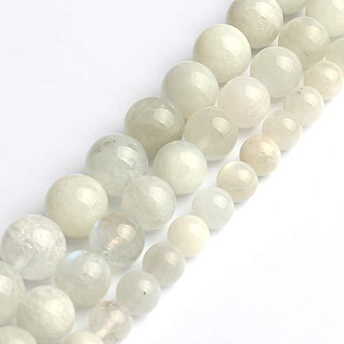 Love Beads 6mm Natural Moonstone Round Stone Beads for Jewelry Making 15inch Gemstone Semi Precious