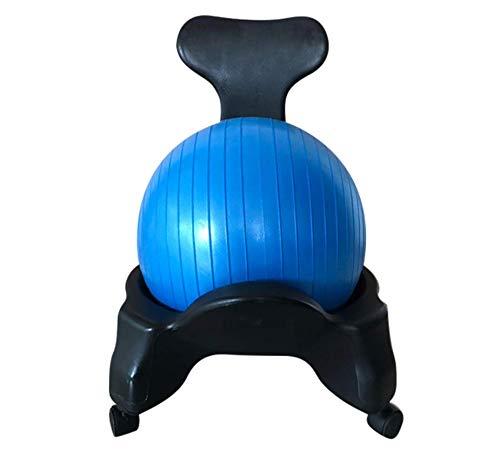 【LR.store】 バランスボールチェア (55cm) エアーポンプ付き オフィスワーク デスクワーク 在宅 ながら運動 バランス感覚 体幹 筋力 (ピンク)