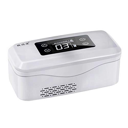 JUNKUN Caja refrigerada de insulina Caja de Medicina refrigerada Recargable portátil portátil La batería incorporada Puede Estar en Espera Durante 11 Horas 2-25 ° Caliente y frío Dual