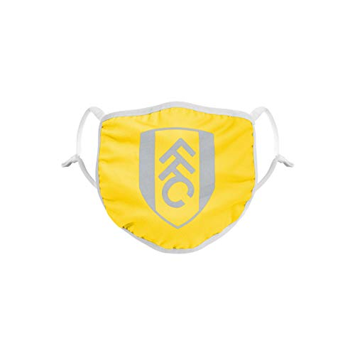 Forever Collectibles UK Premier League Fulham Yellow Neon Reusable and Washable Unisex Face Mask Covering