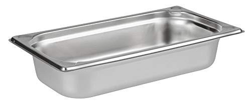 APS 81302 GN 1/3 Behälter, rostfreier Gastronormbehälter Edelstahl, Abmessungen 175 x 325 mm/Höhe 650 mm/Volumen 2,5 Liter