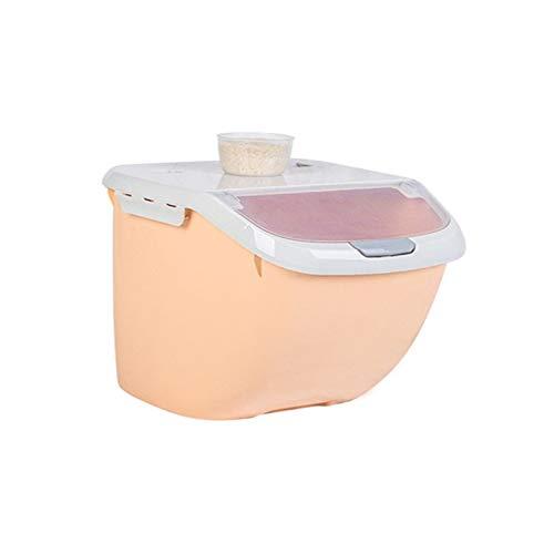 SHOUNAO Caja de Almacenamiento de arroz 6kg Dispensador de Cereales de Granos de Granos Lid Food Organizer Contenedor Cocina Caja de Almacenamiento de arroz Cubierta de Flip Cubierta