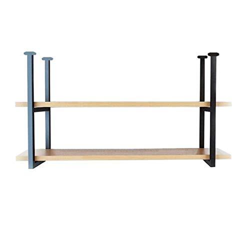 NYDZDM 2 lagen muur plafond rek voor woonkamer/bar/keuken, 80 cm, gebruikt voor opslag rek/wijnrek/boekenkast/hangende decoraties frame, wandmontage drijvende partitie