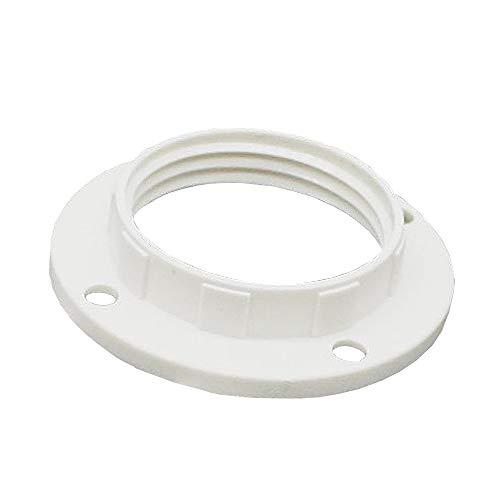 10x E14 Schraubring Weiß Kunststoff Gewindering für Lampen-Fassung Ring für Lampen-Schirm oder Glas-Elemente