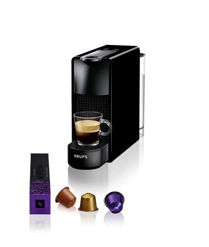 Krups Essenza Mini noir Nespresso Machine à café, 0,6 L, 19 bars, Cafetière Capsule de café, Barista, 2 tailles de tasse, Espresso, Lungo, Design ultra compact, Automatique XN110810