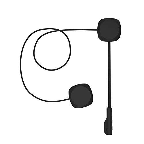 3T6B Bluetooth 5.0 Auriculares de Cascos de Motocicleta, inalámbrica Manos Libres Moto Casco Auricular, Altavoces música, Mic Control de Llamadas, Anti-interferencia Auriculares
