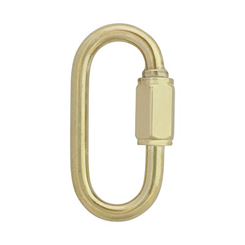 RCH Hardware QL-SS03-35 Stainless Steel Quick Link, 8 Gauge, Polished Brass (2 Pack)
