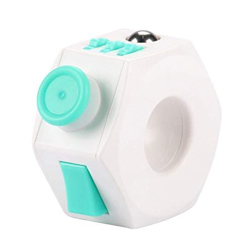 contra la Ansiedad Descompresión Anillo, Portátil Mini 360° Pomo Fidget Anillo, Plástico Sensorial Cubo Juguete A Alivio Estrés Y Depresión Relajante Focu-S para Adolescentes Niños Y Adultos