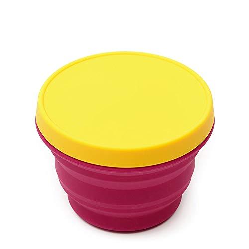 Jiamuxiangsi- Faltbare Schüssel-Silikon-Faltbrotdose Silikon-Becherschüssel für Kinder Picknick im Freien Babygeschirr Bruchsichere...