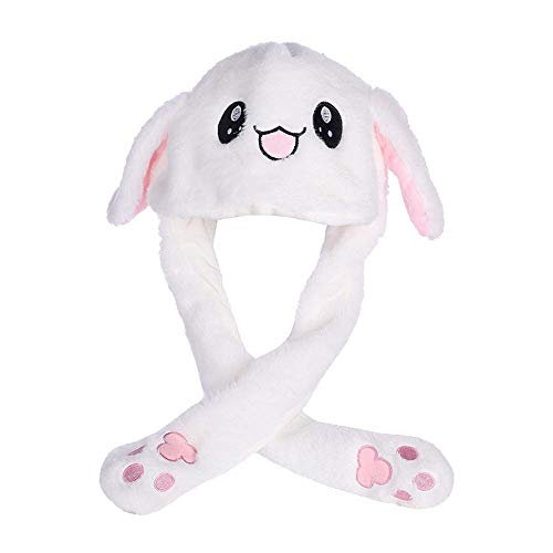 BETOY Sombrero de Conejo de Peluche,Gorra de Conejo de Divertido/Lindo Sombrero de Animales