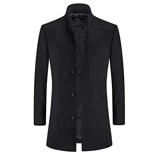 iCKER Mannen Wol Jas Korte Trench Jas Erwt Casual Winter Business Slim Fit Jas