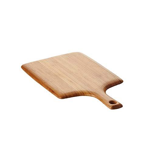 Une 'domo Pv-bam-1149 Point-Virgule Planche à découper avec poignée 38 x 20 x 1.9 cm, Bambou, Marron,