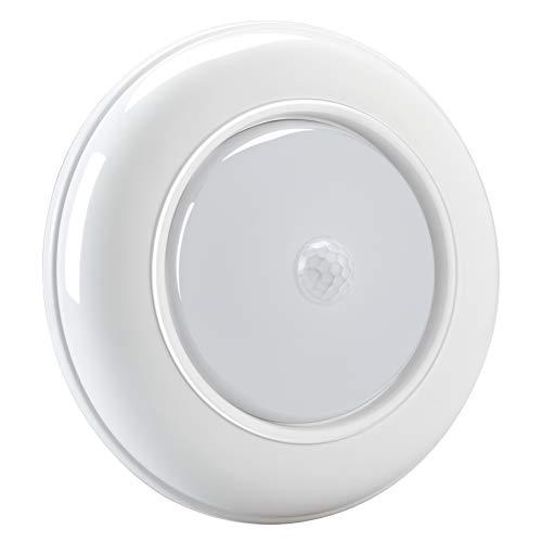 WOOPHEN Wireless Battery Powered Motion Sensing Indoor LED Ceiling Light, 180 Lumens, White Night Light (White Light)