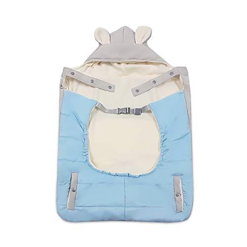 SONARIN Universal All Seasons Dick Regenschutz für Babytrage,für den Winter warm,Wintercover und Regencover,Windschutz,Wasserdichtes(Blau)