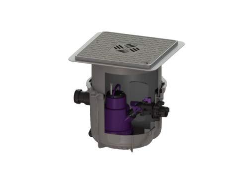 KESSEL Hebeanlage Minilift S KTP 300, resistant, Bodenplatte, schwarz 280570SC