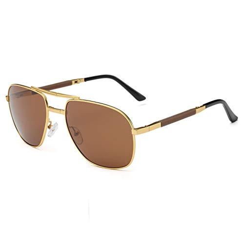 Xniral Unisex Polarisiert Sonnenbrille Faltbare Brille(Kaffee)