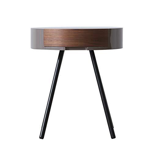 Beistelltisch für Eckkonsole, Sofa, Snacks, Holz, moderner Kaffeetisch, Laptophalter, Überbett, Holzplatte mit Schublade, kleiner Aufbewahrungstisch, holz, natur, 45X45X52cm