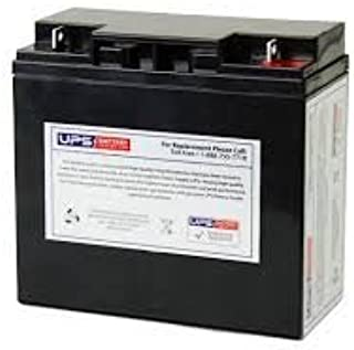 WKA12-18NB 12 volt 18ah Replacement Battery with Nut and Bolt Terminals