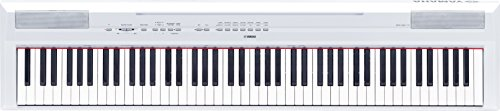 Yamaha P115 88-Key Weighted Action Digital Piano with Sustain Pedal, White