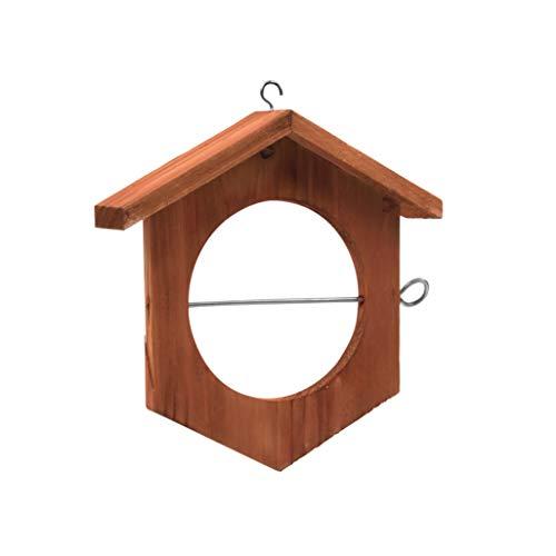 Gardigo Apfel Futterstation I Futterstation für Wildvögel I Futterstation zum Aufhängen, Futterhalter, Meisenknödelhalter aus Holz I Deutscher Hersteller