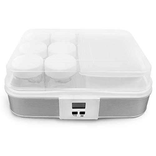 Todeco - Yogurtera, Maquina para Hacer Yogur Casero - Capacidad por frasco: 0,21 L - Potencia: 21,5...