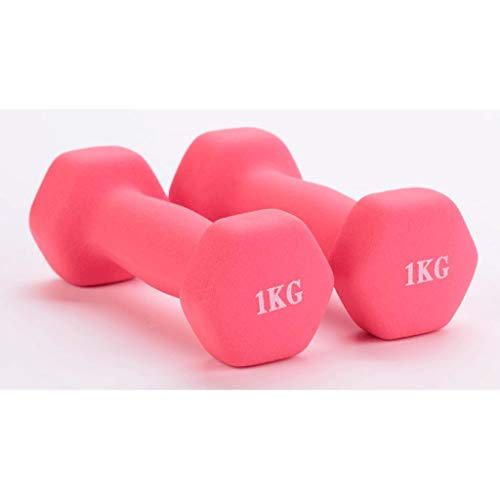 Neoprene Dumbbells Hand Weights Dumbells Children's Ladies Dumbbell Toning-Pilates (1kg-5kg) Pair (Color : Pink, Size : 3KGx2)