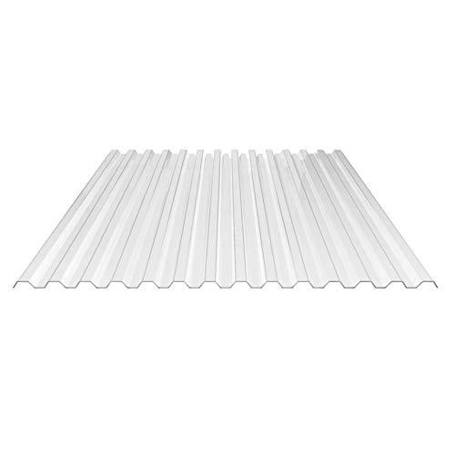 Lichtplatte | Spundwandplatte | Material Acrylglas | Profil 76/18 | Breite 1045 mm | Stärke 1,5 mm | Farbe Glasklar