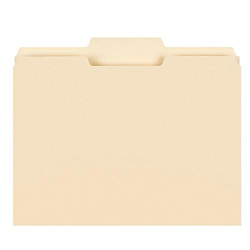 Office Depot File Folders, 1/3 Cut, Letter Size, Manila, Pack of 250, 645927