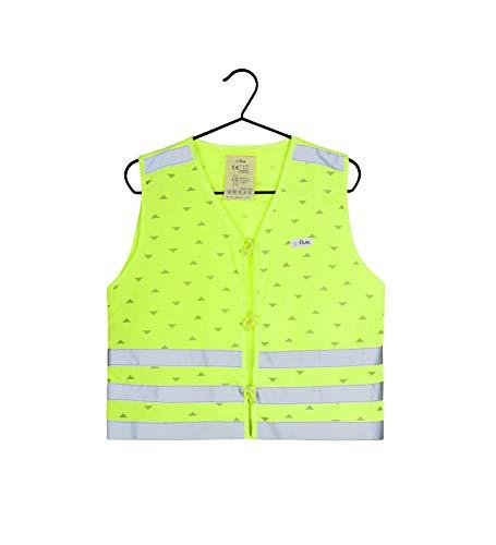 gofluo. Max Sicherheitsweste - Reflektorweste - Fluo Neon - Warnweste - Reflektierende Weste - Sichtbar im Dunkeln für Wanderer, Joggen, Fahrrad, Motorrad - Gelb - 152