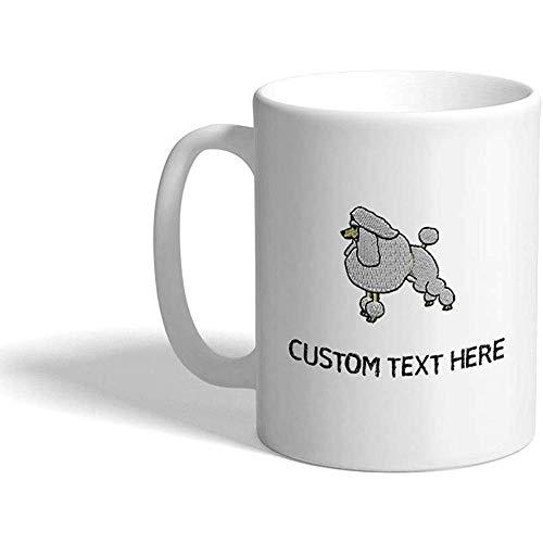 Taza de café personalizada 330 ml Caniche Perro Mascota Taza de té de cerámica Texto personalizado