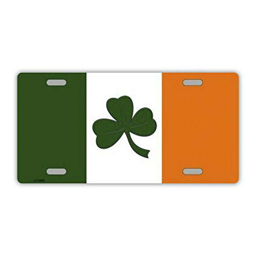 Inga New Sign license plate metal vanity cover irish flag ireland 6x12 inches License Plate Sign