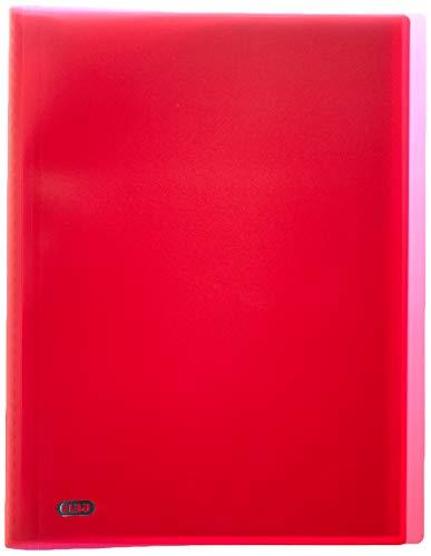 OXFORD- 100206095 - Initial Protège-Documents Souple 40 Vues Polypropylène Opaque A4 Rouge
