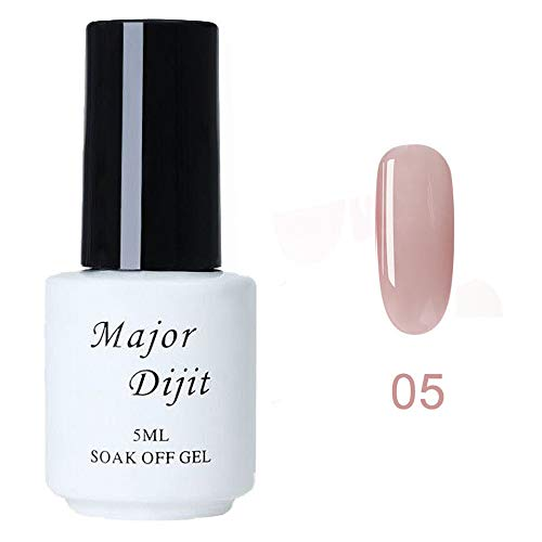 Vernis à Ongles pour Femmes Vernis Gel Semi Permanent Nail Art gel Polish Yeux Lot Nude Populaire Débutant Kit TOP Coat BASE Vernis Soak Off UV 5ML (05#)