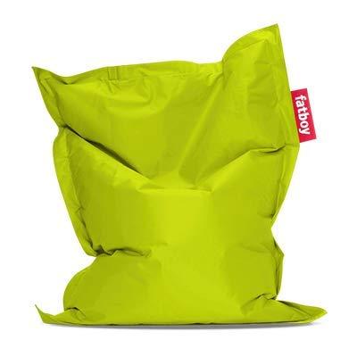 Fatboy® Original Sitzsack Junior | Klassisches Indoor Sitzkissen speziell für Kinder in Lime Green | 130 x 100 cm
