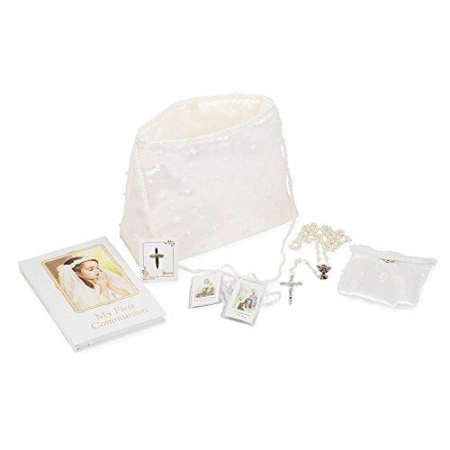 Roman My First Communion Girl Prayer Book Rosary Pin Purse 6 Piece Set