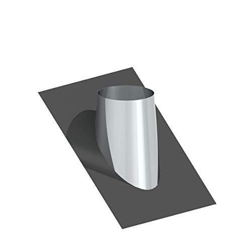 H&M New Line Edelstahlschornstein Schornstein Einzelteil Zubehör Dachdurchführung mit Bleiflansch 36-45° Dachschräge für Außendurchmesser 225-235mm Ø180mm Innendurchmesser 25mm Isolierung