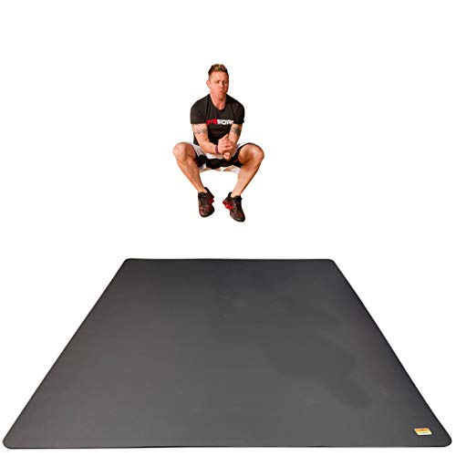 Pogamat Extra Large Workout Mat - 10' x 6' Thick Floor Pad - Perfect Mats for Home Gyms, Cardio, Exercise, Weight Lifting, Fitness, and More - High Density Non-Slip Foam