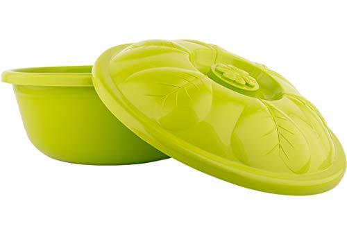 Almina | deeghouder | opbergbox | met deksel | 16,5 liter | kunststof | groen | Al-asd084-groen