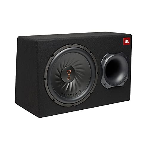 JBL BassPro 12 Aktiv Subwoofer Auto Set - Bassreflex Woofer JBL box groß 300mm, 450 Watt verstärker Auto Soundsystem und Car hifi Bassbox Gehäuse