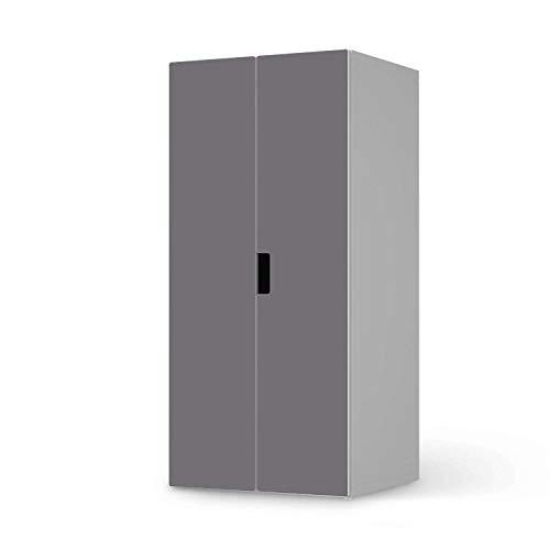 creatisto Möbel Klebefolie für Kinder - passend für IKEA Stuva Schrank - 2 große Türen I Tolle Möbelfolie für Kinder-Möbel Deko I Design: Grau Light