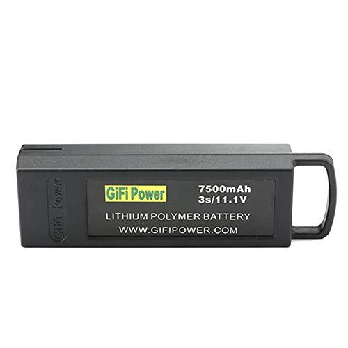 3S 7500mAh High Capacity 11.1V LiPO Battery Extra Flight Time for Yuneec Q500,Q500+,Q500 4K,Typhoon G Drone RC Quadcopter - Black
