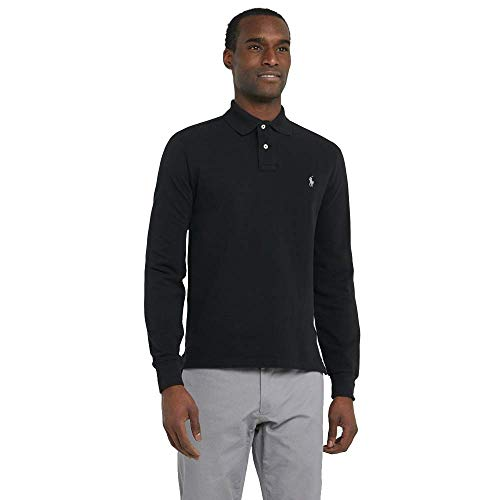 Polo Ralph Lauren Langarmpolo Custom Slim Fit (XL, Polo Black)