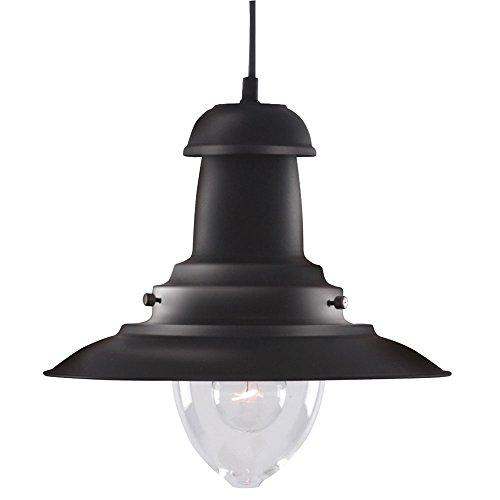 Lámpara colgante estilo náutico. Color negro. Ref. 4301bk, 60 W
