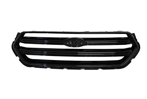 Dreamseek Front Bumper Grille for 2017 2018 2019 Ford Escape Kuga Sport Honeycomb Mesh Grill Glossy Black