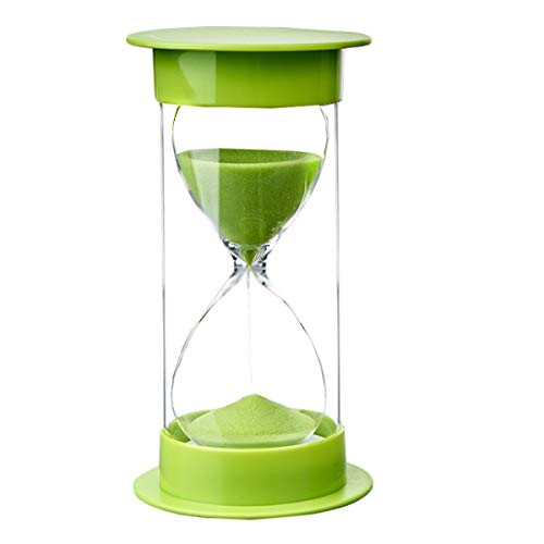 Zeiger Sand Timer Sanduhr mit Schutz für Küchen-Timer und die Zeit zu 5 Minuten 10 Min 30 min 45 min, 60 min 15 Minutes grün