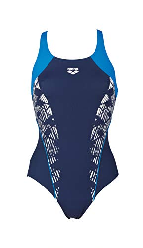 ARENA W See Through V Back Sportanzug für Damen, Damen, 001196, Navy/Pix Blue, 54