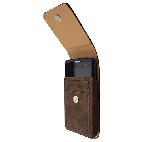 caseroxx Handy Tasche Outdoor Tasche für Crosscall Core-X3, mit drehbarem Gürtelclip in braun